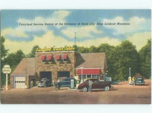 Linen CITIES GAS STATION PUMPS Lookout Mountain - Chattanooga TN AF6264-13