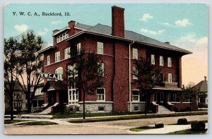 Rockford Illinois~Fireplace Chimney~Huge Dormer~Sun Gowing Down Behind YWCA~1910