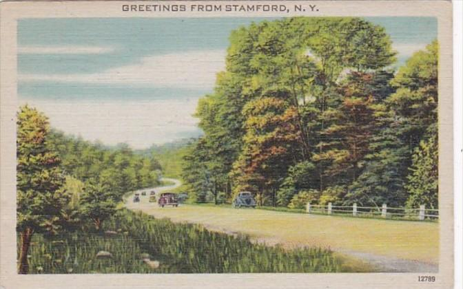 New York Greetings From Stamford 1945