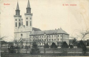 Hungary Postcard Zombor new Catholic Church