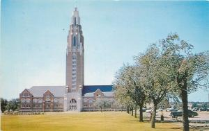 Oklahoma City University Oklahoma~Gold Star Memorial Tower~1950's Postcard