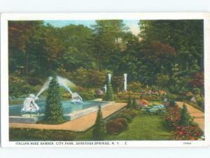 Unused W-Border PARK SCENE Saratoga Springs New York NY c8000