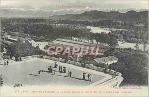 Postcard Old Low pyrenees 677 new terrace pau royal place and part of the cha...