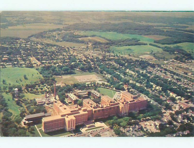 Unused Pre-1980 AERIAL VIEW OF TOWN Rochester Minnesota MN n2150