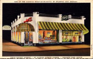 New Jersey Atlantic City Kents Restaurant 1700-02 Pacific Avenue 1946 Curteich