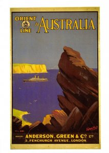 Advertising Repro Postcard, Orient Line to Australia, Cruise Liners GP2