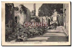 Old Postcard Senlis After Bombing