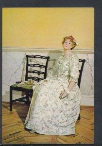 Fashion Postcard - Costume - 1730's Robe Volante of Embroidered Linen   T8359