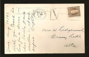 Canada Postmark 1941 Vancouver BC Driveway Stanley Park Gowen Sutton Postcard