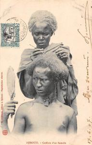 Djibouti Coiffure d'un Somalis, Hairstyle, Barber 1907