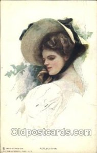 Series No. 101 Reflections Artist Signed Harrison Fisher 1911 minor corner we...