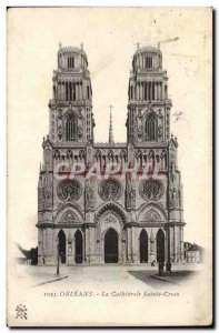 Old Postcard Orleans Holy Cross Cathedral