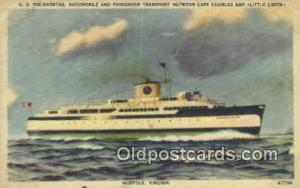 SS Pocahontas, Norfolk, Virginia, VA USA Steam Ship Postcard Post Cards  SS P...