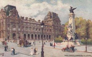 PARIS, France, 1900-1910s; Statue de Gambetta et Le Louvre ; TUCK 110 No 67