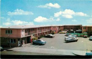 CA, Fresno, California, Travel Lodge, 1950's Cars, Cline No. C-21216