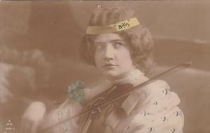 RP: Girl holding a Violin , PU-1908
