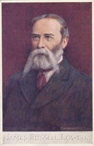 James Russel Lowell Tuck Oilette Men Of Letters Series