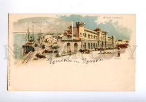 172392 ARGENTINA Recuerdo del ROSARIO Vintage litho postcard