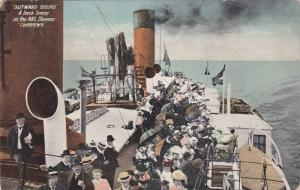 Oceanliner/Steamer/Ship Outward Bound A Deck Scene On The NRL Steamer Chip...