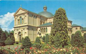 Washington DC~Franciscan Monastery Church~St Christopher's Statue & Garden~1950s