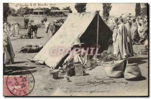 Old Postcard Algeria Cafe outdoor Arab