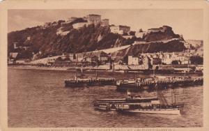 Ships, Ehrenbreitstein Mit Schiffbrucke (Koblenz), Rhineland-Palatinate, Germ...
