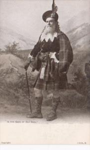 Scotland Scottish Man In Traditional Costume In The Garb Of Old Gaul
