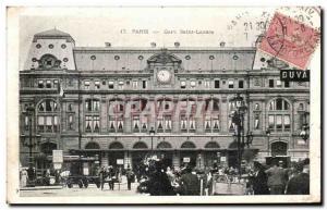 Old Postcard Paris Gare Saint Lazare
