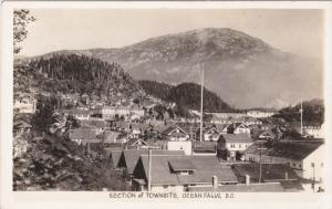 RP: Section of Townsite, Ocean Falls, British Columbia, Canada 1930-50s