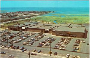 Ocean City MD Gold Coast Mall Aerial View Stores and Parking Lot 1970s Postcard