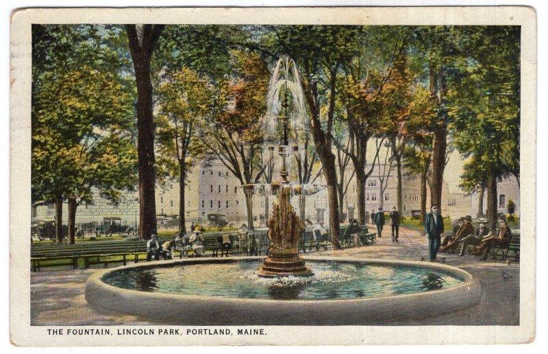 Portland, Maine, The Fountain, Lincoln Park