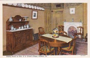 Illinois Galena General U S GRant's Home Dining Room Curteich
