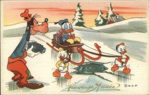 Disney Goofy w/ Camera Donald Duck Nephews Photochrom #327 Postcard G19