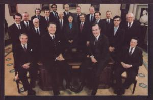 President Ronald Reagan and Cabinet Members Post Card 3598