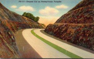 Pennsylvania Turnpike Deepest Cut Clear Ridge Cut At Everett Curteich