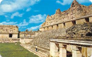 Mexico Uxmal Yucatan Temple of Venus in The Quadrangle of the Nuns
