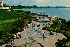 Tennessee Memphis Mud Island South View Of River Walk and Mississippi River