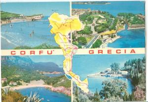 Greece, Corfu, 1980 used Postcard