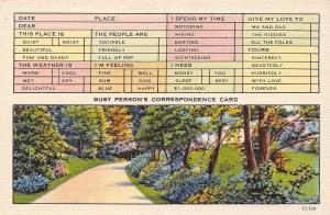 USA N.C. Asheville Busy Person's Correspondence Card path garden alley jardin