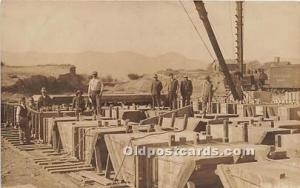 Real Photo Occupation and People Working Railroad? Unused