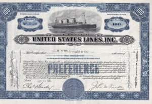 Preference Stock Certificate 100 Shares - NP10405, S.S. Leviaton, H.C. Wainwr...