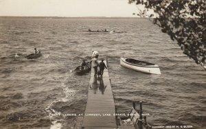 RP; OSAKIS , Minnesota, 1908 ; Boat landing , Lake Osakis