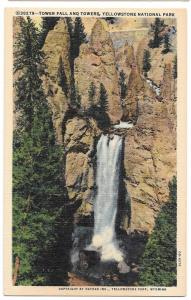 WY Yellowstone Park Tower Fall & Towers Haynes Linen PC