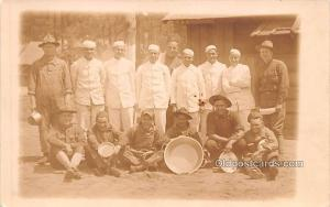 Military Real Photo Post Cards Old Vintage Antique Soldier, Army Men Cook Sta...