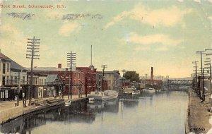 Dock Street Schenectady, New York, USA 1910