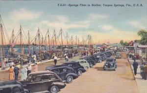 Florida Tarpon Springs Sponge Fleet In Harbor