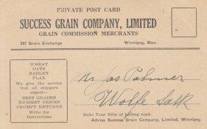 WINNIPEG, Manitoba, Canada, 1926; Daily Market Card