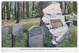 Concord, Mass, Grave Of Ralph Waldo Emerson