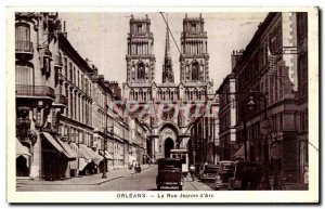 Old Postcard Orleans La Rue Jeanne d'Arc