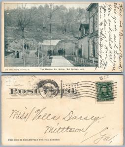 HOT SPRINGS AR MAURICE HOT SPRING 1906 UNDIVIDED ANTIQUE POSTCARD